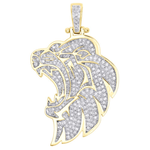 """2/"""" Global Earth Charm Pendant Miami Curb Border Real SOLID 10K Yellow White Gold"""