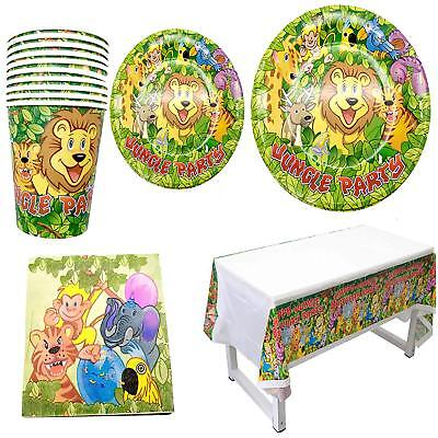 Polka Dot Sky Jungle Safari Kids Birthday Party Tableware Paper 8 Pack (33pcs)  - Polka Dot Tableware