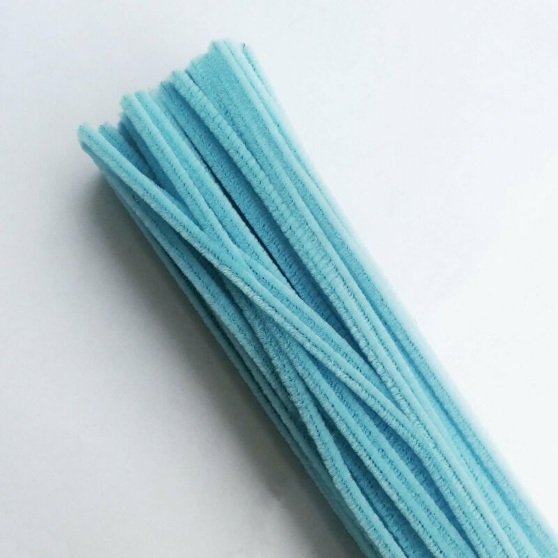 12 Inch Chenille Stems Pipe Cleaner Light Blue Pack of 400 Pieces