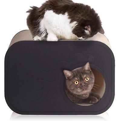 Cat Scratcher Lounge Corrugated Cardboard Howllowed Cat Scratching Box Cat House