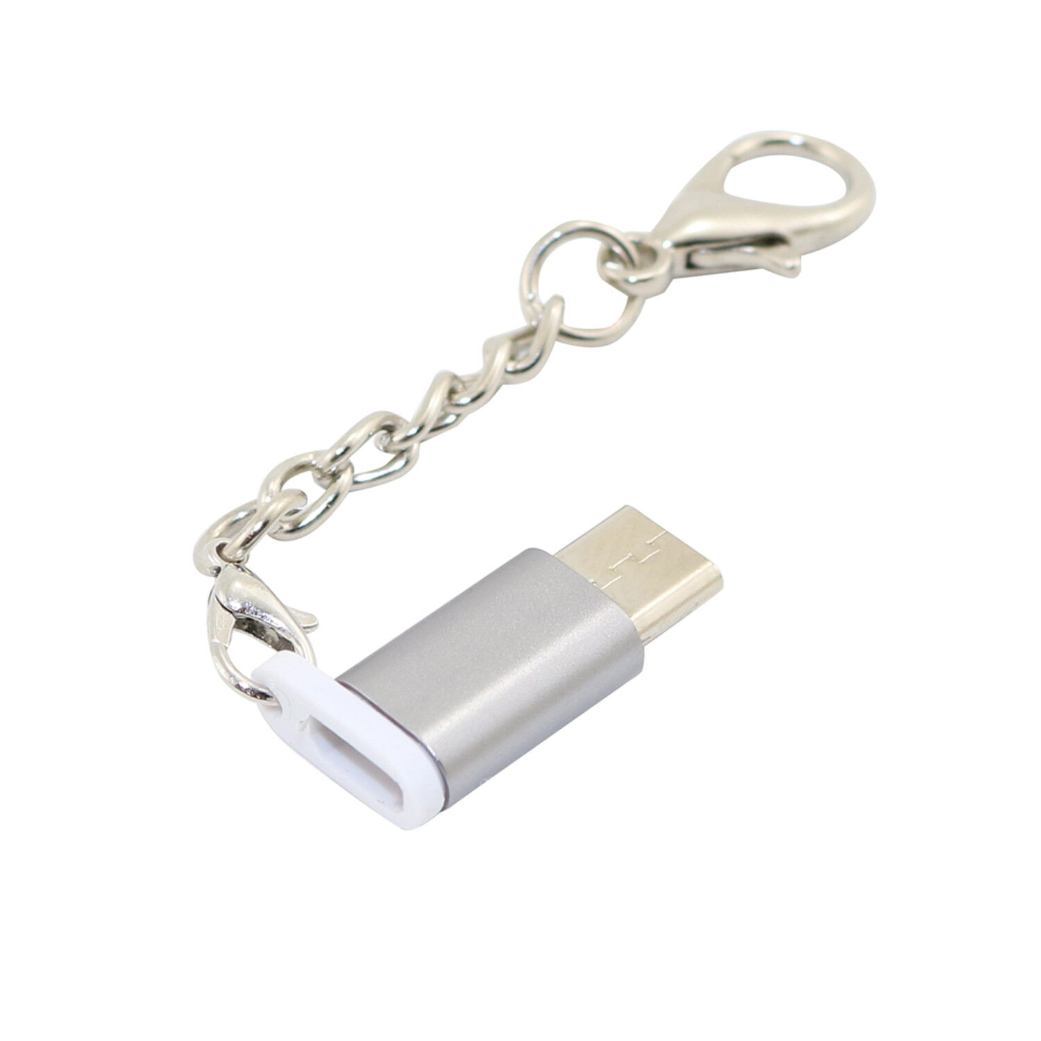 USB C to Micro USB Adapter with Keychain Type C Convert for