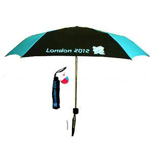 London Olympic 2012 Black & Blue Compact Folding Umbrella