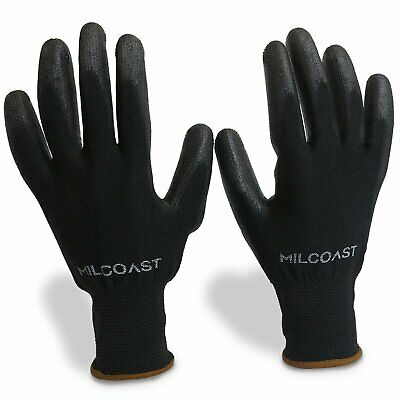 20 Pairs Milcoast Breathable Ultra-Thin Flexible Gloves Polyurethane Palm -
