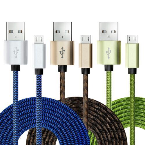 3x Micro USB Kabel Ladekabel Datenkabel Nylon Micro USB Handy Smartphone Tablet