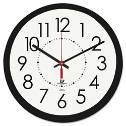 Chicago Lighthouse Electric Contemporary Clock 14-1/2 Black 67801103