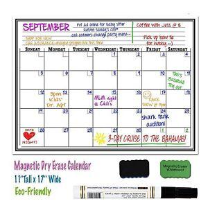 Magnetic Refrigerator Calendar Ebay