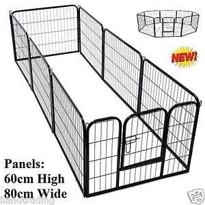 60cm 8 Panel Pet Dog Playpen Puppy Exercise Fence Enclosure Cage Cat Play Pen