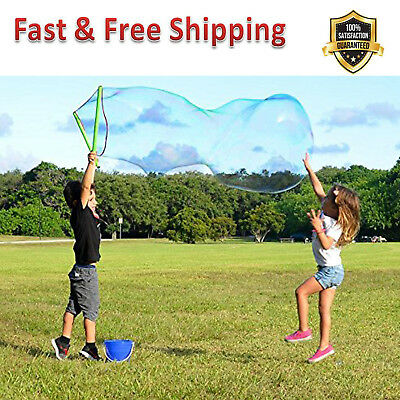 Giant Bubble Wand Kit 3 Piece Set Big Bubble Concentrate Tips Outdoor Toy New