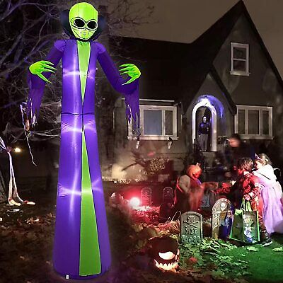 8FT HALLOWEEN UFO ALIEN ROSWELL 51 AIRBLOWN INFLATABLEW LED YARD DECOR