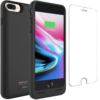 "Worldwide Ship - Alpatronix BX190 Plus 5000mAh iPhone 8+ (5.5"")  Battery Case Qi"