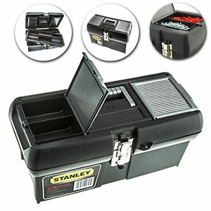 Stanley Tool Storage Box 16 Inch Robust Waterproof Toolbox DIY Chest Organiser