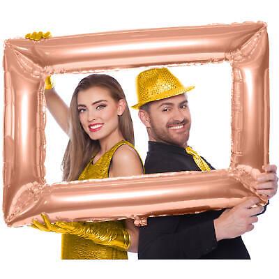 PALLONCINO MYLAR SUPERSHAPE CORNICE SELFIE ROSA GOLD 60 X 85 cm PARTY FESTA