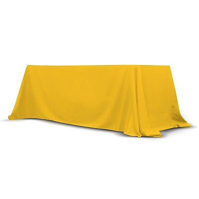 Trade Show Convertible Table Cover 6'-8' ft Stain Free Polyester Throw (Yellow)
