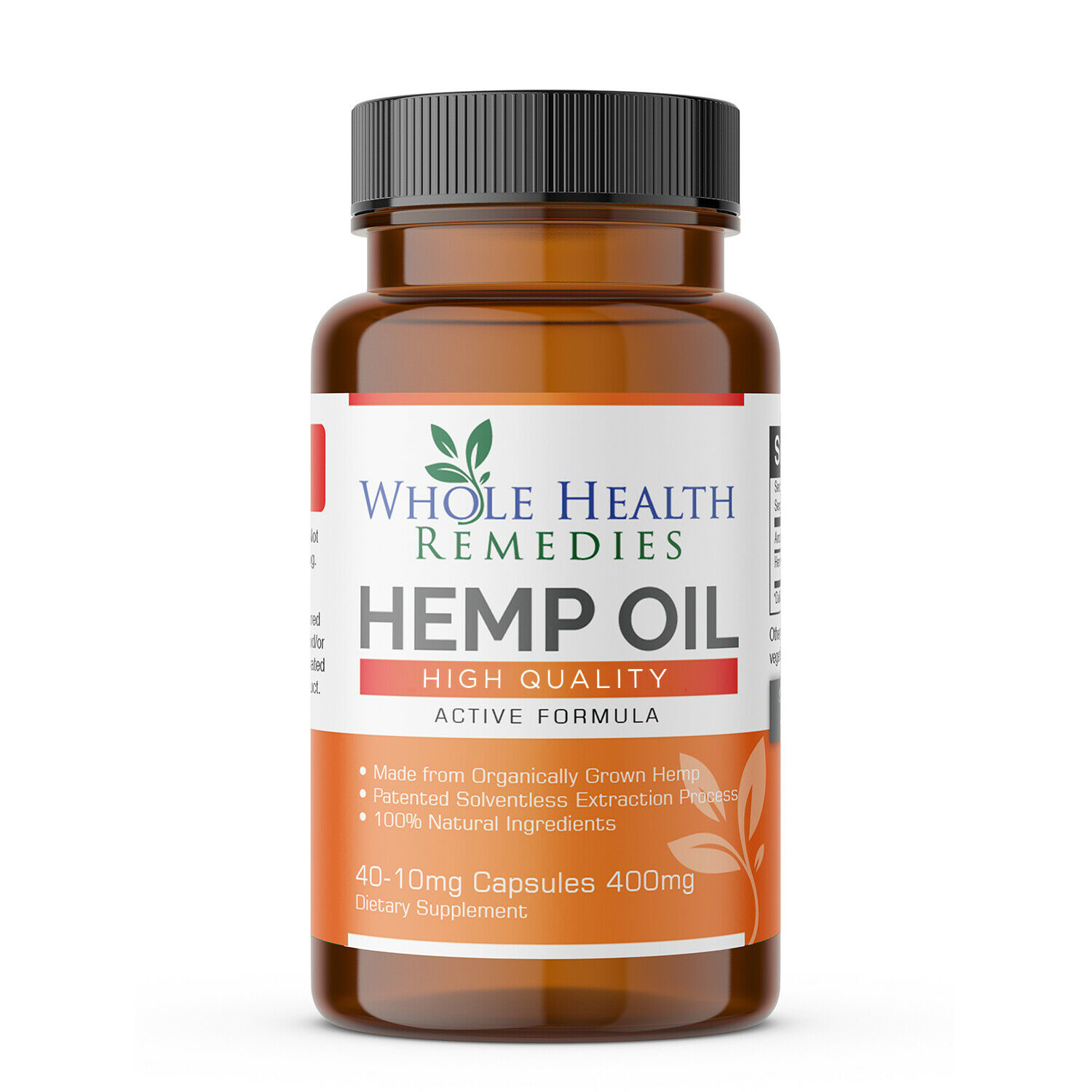 100% Pure Hemp Oil Capsules for Sleep-Aid, Anxiety & Pain Relief & Stress Relief 2