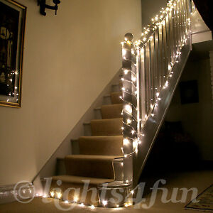 100-Warm-White-LED-Indoor-Fairy-Lights-Clear-Cable-24v