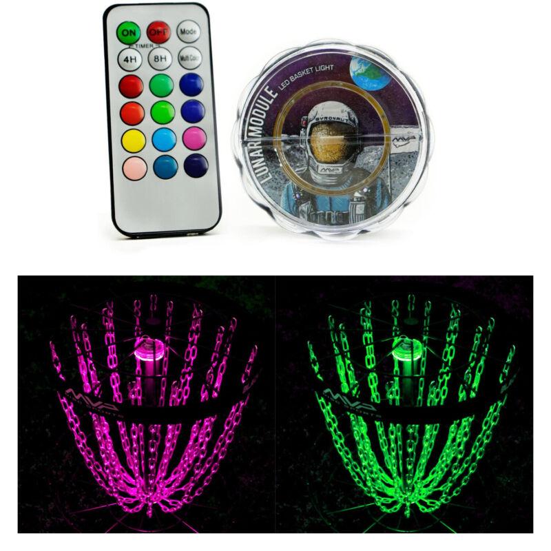 MVP Basket LED Lights for Night Disc Golf - Lunar Module with Remote