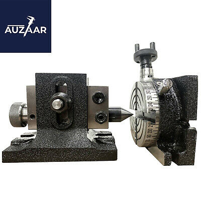 3 Inch 80mm Rotary Table Hv 4 Milling Slots And Suitable Single Bolt Tailstock