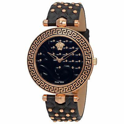 Versace VK7530017 Women's VANITAS Gold-Tone Quartz Watch
