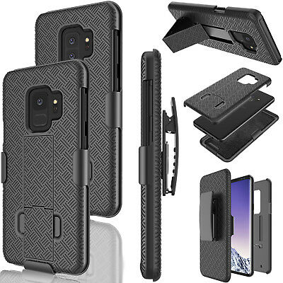 For Samsung Galaxy S9 Plus/ S9 Belt Clip Full Armor Cover W/Kickstand Phone Case
