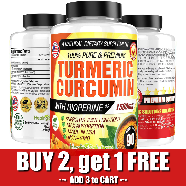 Turmeric Curcumin 1500 mg Ultra High Absorption Extra Streng