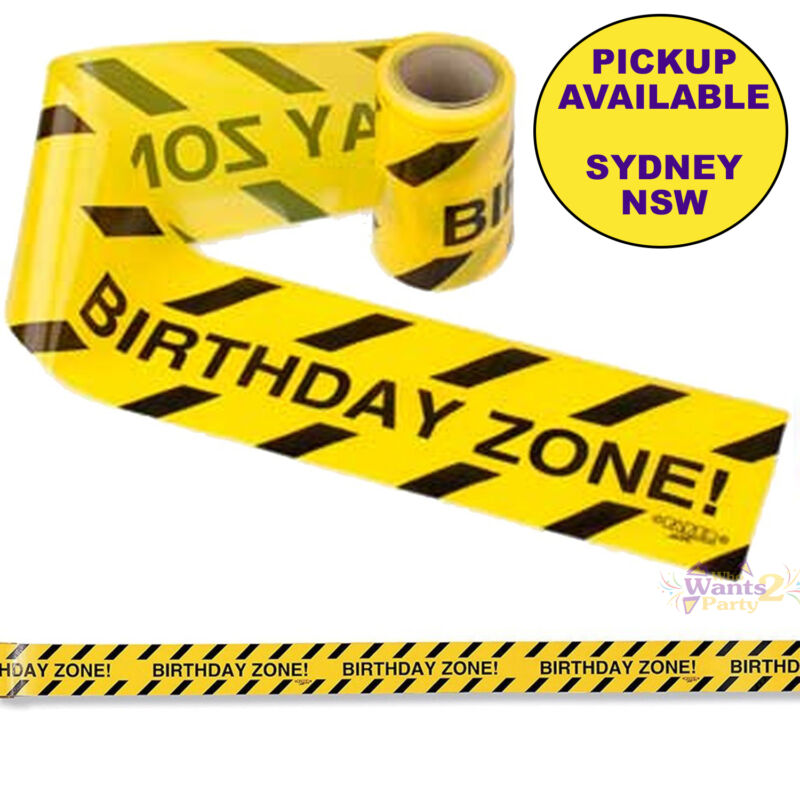 CONSTRUCTION PARTY SUPPLIES BIRTHDAY ZONE WARNING TAPE