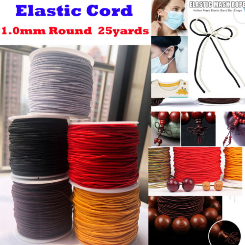 1 Roll Elastic string for Bracelets,Necklace,Beading and Sewing 25Yard 1mm Round
