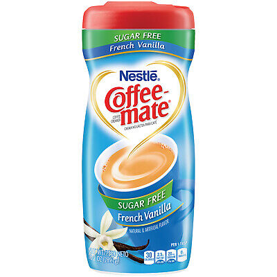 - Nestle Coffee-mate Powdered Creamer SUGAR Free French Vanilla 15OZ SHIP