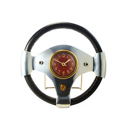 Speed Racer Vintage Style Automobile Wall Clock British Race Car Steering Wheel