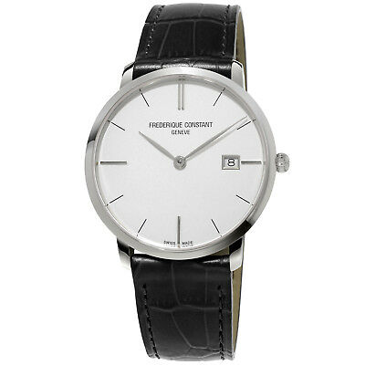 Frederique Constant Men's Slimline Quartz Silver Dial 38mm Watch FC-220S5S6