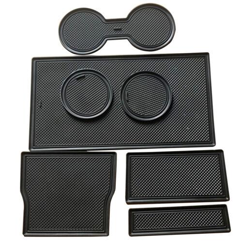 1Set Cup Holder /& Center Console Car Mat Liner Accessories for Tesla Model 3