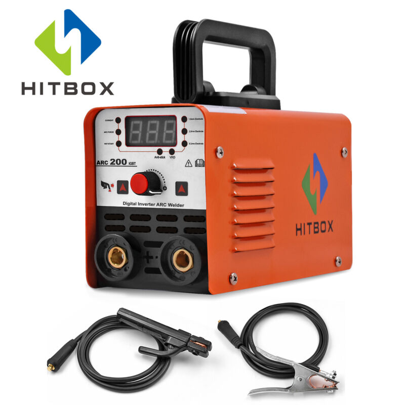 HITBOX IGBT  220V Mini ARC-200 ARC Welder MMA STICK AC Inverter Welding Machine