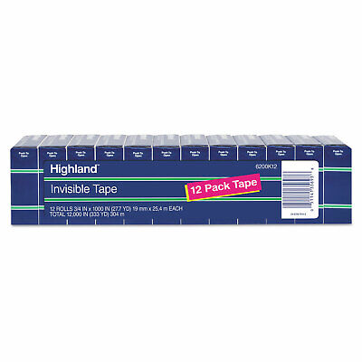 Highland Invisible Permanent Mending Tape 34 X 1000 1 Core Clear 12pack