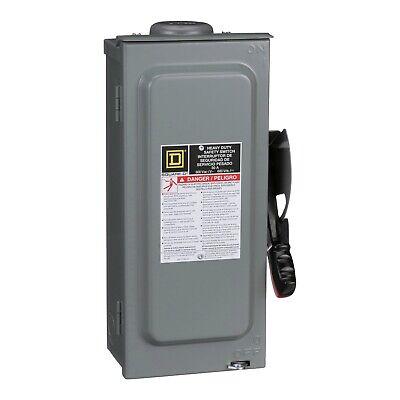 Square D Hu361nrb Safety Switch Heavy Duty Non-fusible 30a 600v 3p Nema 3r