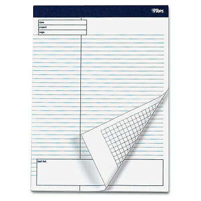 Tops Docket Gold Planning Pad Legalwide 8 12 X 11 34 White 40 Sheets 4pack