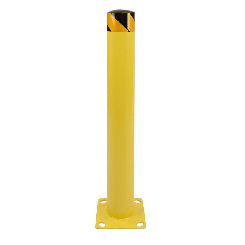 BISupply Safety Bollard Post 36in - Yellow Pipe Bollards Steel Parking Barrier