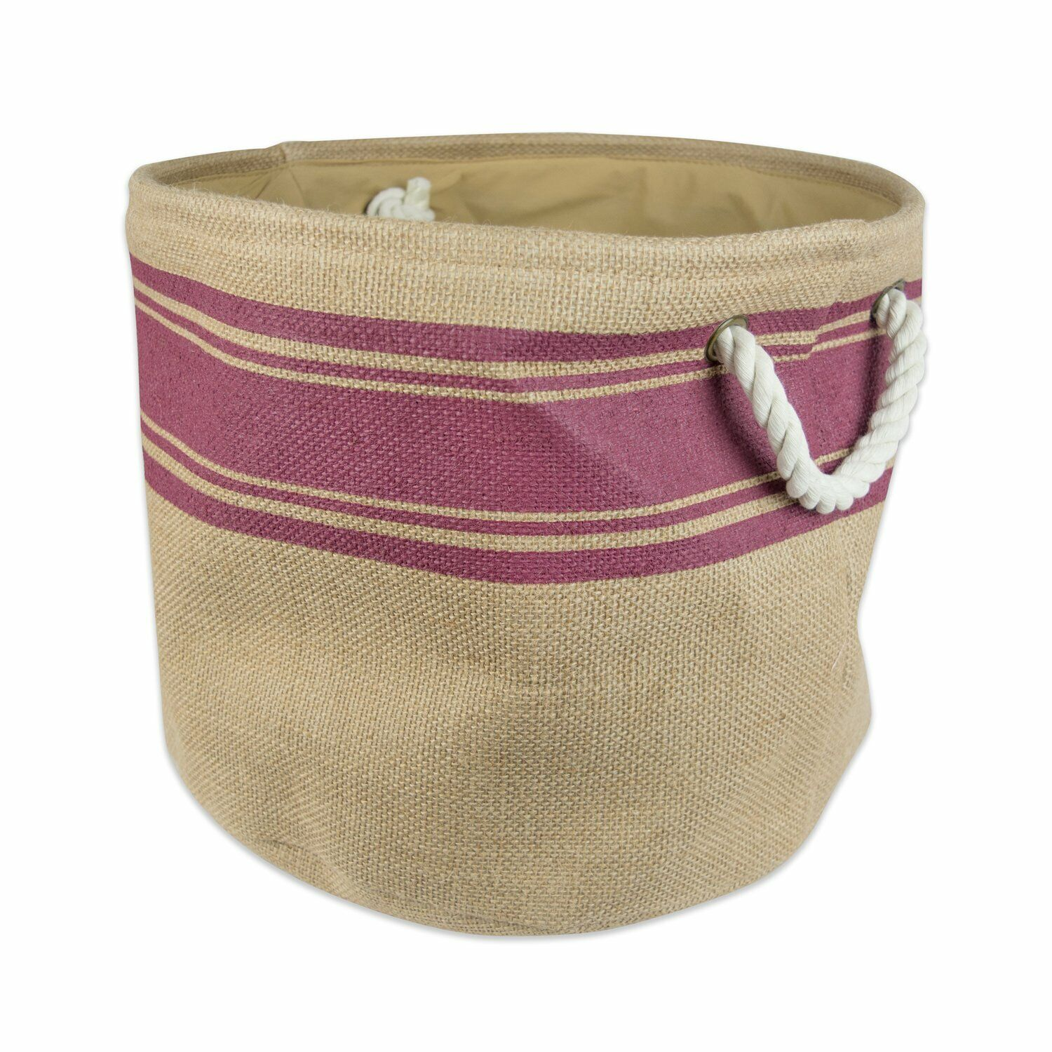 DII Collapsible Burlap Storage Basket or Laundry Bin 15x12 i