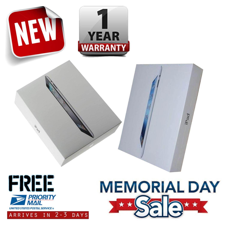 New Apple iPad 2 16GB/32GB/64GB Black/White Wi-Fi/AT&T/Verizon 1-Year Warranty