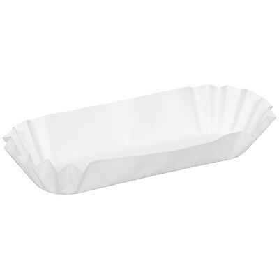 "100 Dixie® Hot Dog / Corn Dog Trays 8"" Consession Party Medium Fluted Paper USA"