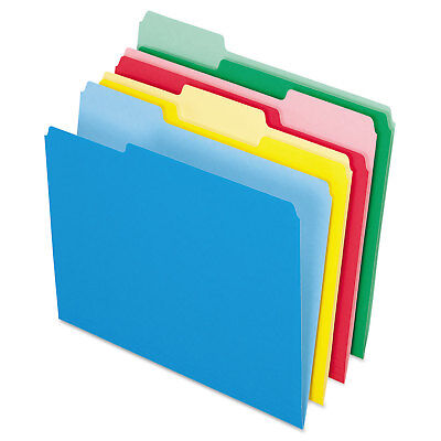 Pendaflex Colored File Folders 13 Cut Top Tab Letter Assorted Colors 24pack