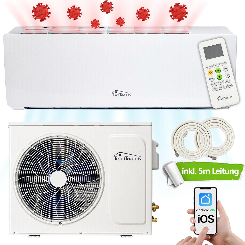 Split Klimaanlage Klimagerät UVC Luftreinigung Desinfektion 9000 BTU 5in1 Smart