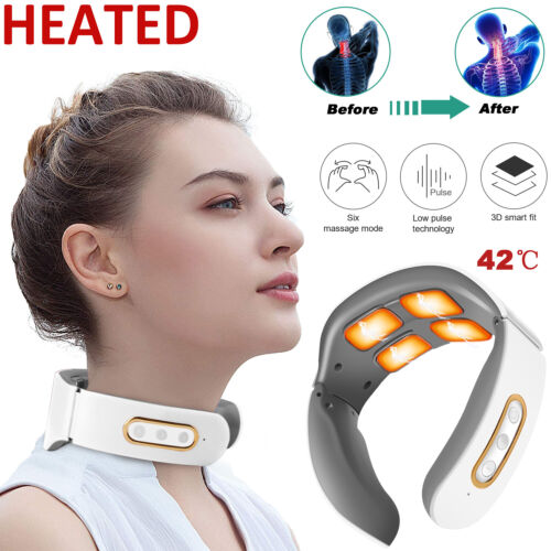 Rechargeable Electric Cervical Neck Massager Relax Heated Body Musle Relief Pain