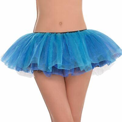 lett Türkis Blau Glitzer Tutu Rock Eiskönigin Eis Kostüm (Erwachsene Eis Kostüm)