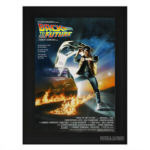 BACK-TO-THE-FUTURE-Framed-Film-Movie-Poster-A4-Black-Frame-Michael-J-Fox