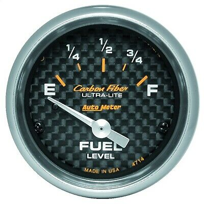 AutoMeter 4714 Carbon Fiber Electric Fuel Level Gauge