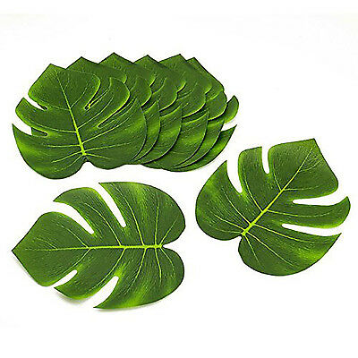 Green Jungle Tropical Beach Island Luau Polyester Leaves Table Decorations Lot](Jungle Leaf)
