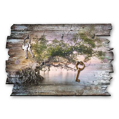 Zauberbaum Schlüsselbrett Hakenleiste Landhaus Shabby chic aus Holz 30x20cm (Haken Schlüsselbrett)