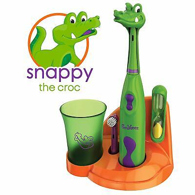 Brusheez Kids Electric Battery Powered Toothbrush Set - Snappy the Croc