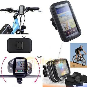 Bike-Bicycle-Waterproof-Phone-Case-Cover-Bag-Pouch-Handlebar-Mount-Holder-Cradle