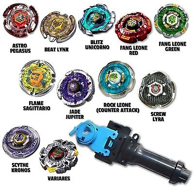 Beyblade Speed Pack Comes w/ 4 Random Beyblades Equipped w/ String Grip Launcher