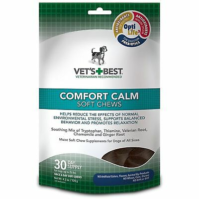 Vet's Best Comfort Calm Calming Soft Chews Dog Supplements, 30 Day Supply